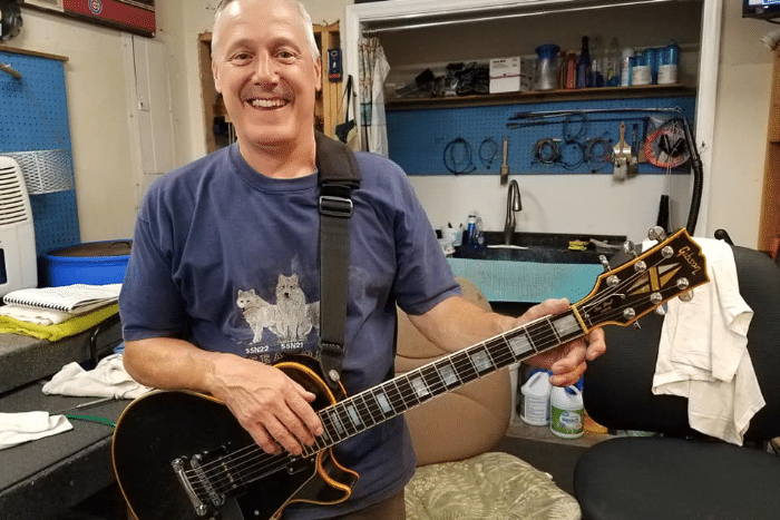 Jim with Gibson Custom L.P