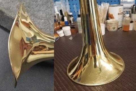 Dented Trombone Bell